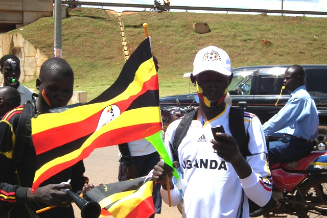 Fan with Uganda Flag